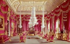 Red Drawing Room - Carlton House (demolished)- Home of George IV before Buckingham Palace Carlton House, Palace Interior, Royal Residence, Fine Art Prints, Canvas Prints, Elegant Homes, Buckingham Palace, Drawing Room, Gloss Matte
