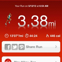 5/12/12: Morning run followed by a long stretch :)