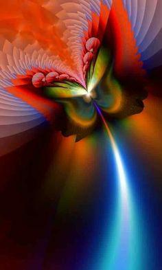 Firetipbutterfly által titiavanbeugen - Fractal red, blue and green. Butterfly Wallpaper, Butterfly Art, Butterfly Meaning, Fractal Design, Fractal Art, Pretty Pictures, Art Pictures, Butterfly Pictures, Wow Art