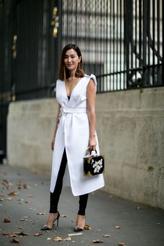 Street fashion: Paris Fashion Week wiosna-lato 2016, fot. Imaxtree