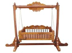 Baby Handmade Wooden Cradle crafted in Saharanpur, India. made in Sheesham Wood. Door Delivery Available. Cradle can be customized to your needs. Baby Cradle Swing, Wooden Baby Swing, Baby Cradle Wooden, Wooden Swings, Baby Swings, Handmade Baby, Handmade Wooden, Baby Craddle, Wood