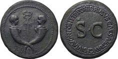 TIBERIUS & GERMANICUS GEMELLUS (19-37/8 and 19-23/4). Sestertius. Rome. Struck under TIBERIUS (14-37).