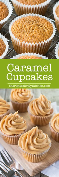 Easy to make caramel cupcakes which get their caramel flavour from using both light brown sugar and adding caramel sauce to the mix.