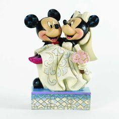 Congratulations-Mickey And Minnie Wedding Figurine