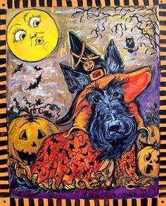 Halloween Scottie Witch