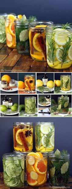 DIY Natural Room Scents <br> Add fragrance to your home using simmering waters infused with spices, herbs, & fruit. Room Scents, Ideias Diy, Smell Good, Homemade Gifts, Homemade Candles, Diy Candles, Diy Gifts, Natural Remedies, Herbalism
