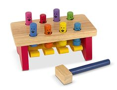Got it yesterday and he's already whacking away at it...Pounding Bench by Melissa and Doug Toys