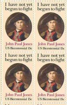 John Paul Jones Set of 4 x 15 Cent US Postage Stamps NEW Scot 1789 . $4.70. One…