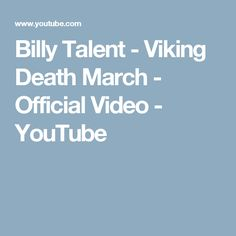 Billy Talent - Viking Death March - Official Video - YouTube