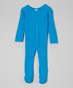 Look at this #zulilyfind! Azure Thermal Footie by Luca Charles #zulilyfinds The fabric is the SOFTEST!