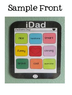 This is a Father's Day craftivity that for all the dads and other special people raising the kiddos in your class. In addition to the iDad template. Holiday Activities, Classroom Activities, Holiday Crafts, Activities For Kids, Kid Activites, Classroom Freebies, Holiday Ideas, Classroom Ideas, Fathers Day Presents