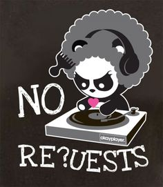 Angry Panda holds it down Questlove style...