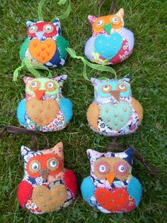 Patchwork owls.