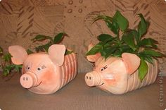 Trazendo vários tipos de porquinhos para decorar o jardim ou fazer de cofrinho.