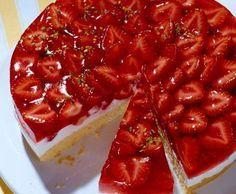 Erfrischende Erdbeertorte