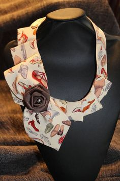 Woman Necktie Unique Scarf Upcycle Tie Unique Tie NEW #tiescrafts