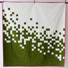 love the quilting, too. quilt. squares. solids.