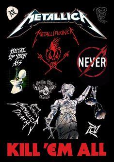 metallica stickers