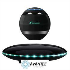 Levitating Speaker, Foxnovo Floating Speaker with Bluetooth 360 Degree Rotation, Touch Control Button and Colorful Led Flashing Show Base (black) - Quality Product Introduction Stereo Speakers, Bluetooth Speakers, Bluetooth Gadgets, New Inventions, Electronic Devices, Alter, Phone Accessories, Challenges, Base