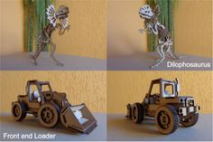 visit www.makeCNC.com to purchase this pattern Ceratopsier Raptor and Front End Loader