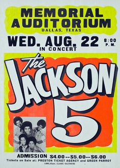 1970 Jackson 5 Concert Poster
