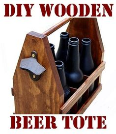 beer tote made out of wood