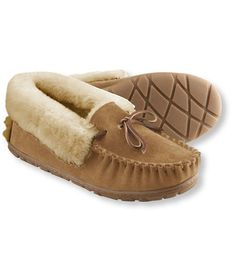 Women's Wicked Good Moccasins @llbean Brown Size 7 1/2