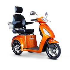 EWheels EW36O 3 Wheel 350 lbs Weight Capacity Scooter  Orange ** Click the VISIT button for detailed description