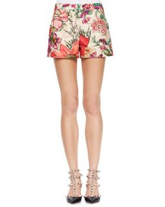 Flower-Print Shorts, Bougainvillea at CUSP.