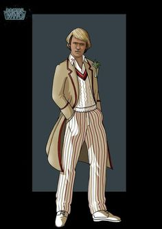 Doctor Who 5 ~ Peter Davison Serie Doctor, Fifth Doctor, Peter Davison, Classic Doctor Who, Doctor Who Fan Art, Man Go, Classic Series, Torchwood, Time Lords