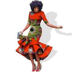Plus Size 2018 New African Dresses for Women Dashiki Elegant Slim Africa Clothes Bazin Riche Sheath Pleated Party Dress African Dresses For Women, African Wear, African Attire, African Fashion, Fashion Women, African Outfits, African Style, Ankara Fashion, Dope Fashion
