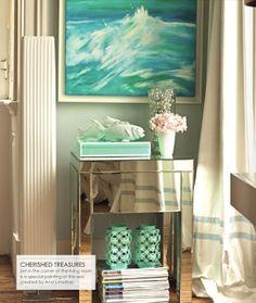 Neat blog (in spanish though!) VINTAGE & CHIC: decoración vintage para tu casa [] vintage home decor: Un salón en tonos pastel [] Pastel color palette in the living