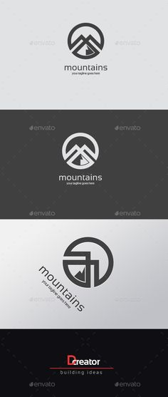 Mountain logo Template Transparent PNG, Vector EPS, AI Illustrator #logotype Download here: http://graphicriver.net/item/mountain-logo/15506333?ref=ksioks