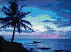 Hawaii Beach Free Pattern