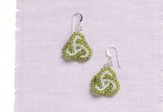 Learn how to make these Celtic earrings in our FREE eBook on seed bead earrings.