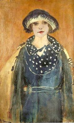 Self-Portrait with Hat - Emilie Charmy ~1920 SÉmilie Charmy was an artist in France's early avant-garde. She worked closely with Fauve artists like Henri Matisse, and was active in exhibiting her artworks in Paris, particularly with Berthe Weill.he