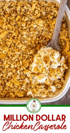 chicken casserole dinners Million Dollar Chicken Casserole - This is our go-to chicken casserole! SO easy to make and tastes like a million bucks! Easy Casserole Recipes, Casserole Dishes, Crockpot Recipes, Cooking Recipes, Ritz Chicken Casserole, Chicken Casserole With Stuffing, Poppy Seed Chicken Casserole, Tater Tot Recipes, Chicken Broccoli Casserole