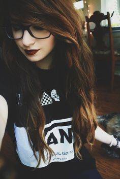 emo with glasses