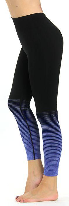1dde93725420c0 Prolific Health Fitness Power Flex Yoga Pants Leggings - Multiple Ombre  Colors