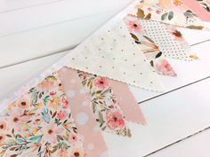 Watercolor Floral Bunting Banner, Baby Girl Nursery Decor, Baby Shower Banner - Blush Pink and Gold Indy Bloom Flowers Baby Shower Bunting, Nursery Bunting, Diy Nursery Decor, Nursery Fabric, Baby Girl Nursery Decor, Baby Decor, Room Baby, Fabric Bunting, Bunting Banner