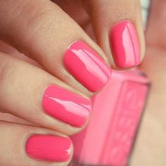 "Essie ""Off The Shoulder"". #nails #essie #polish #pink"