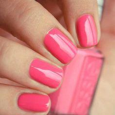 """Essie """"Off The Shoulder"""". #nails #essie #polish #pink"""