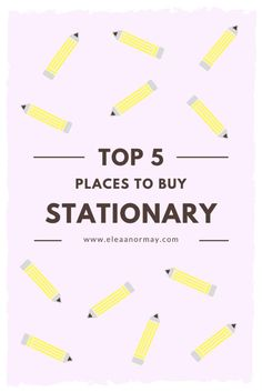 This is the perfect post for any stationary lover!
