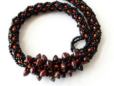 Beadweaving necklace instructions beaded rope by zivadesigns