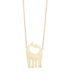 Giraffes Pendant Necklace