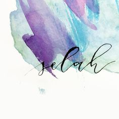 SELAH #typography #lettering #calligraphy