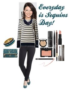 """""""Everyday is Sequins Day!"""" by classic-erynn on Polyvore featuring Fairchild Baldwin, Clare V., House of Harlow 1960, Sephora Collection, Lancôme, NARS Cosmetics, Burberry, Stila, Living Proof and caitrionabalfe"""