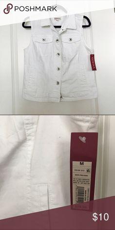 Merona denim vest Brand new. White denim vest. Received as gift. size US M. Merona Jackets & Coats Vests