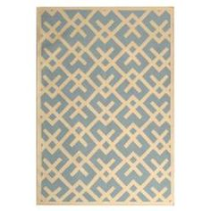 @Overstock.com - Safavieh Hand-woven Moroccan Dhurrie Light Blue/ Ivory Wool Rug (8' x 10') $245.64