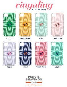 Monogram iPhone or Samsung Galaxy Case by PencilShavingsStudio